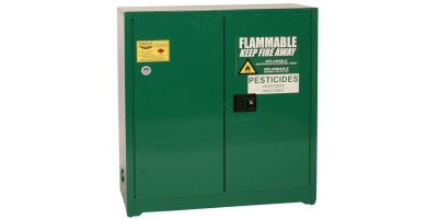 Eagle - Model PEST3010 - Pesticide Safety Storage Cabinet, 30 Gal. Green, Two Door, Self Close