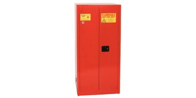 Eagle - Model PI-62 - Paint & Ink Safety Cabinet, 96 Gal. Red, Two Door, Manual Close