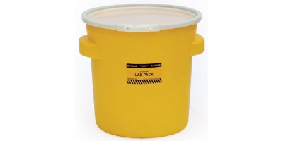 EAGLE - Model 1652 - Lab Pack Poly Drum, 20 Gal. Yellow with Plastic Lever-Lock