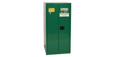 EAGLE - Model PEST62 - Pesticide Safety Storage Cabinet, 60 Gal. Green, Two Door, Manual Close