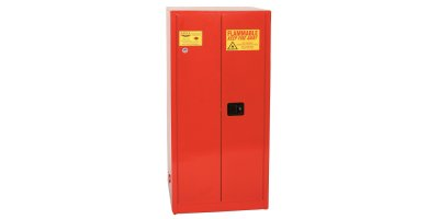 Eagle - Model PI-6010 - Paint & Ink Safety Cabinet, 96 Gal. Red, Two Door, Self Close