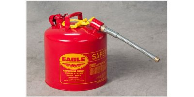 EAGLE - Model Type II U2-51-S - Safety Can, 5 Gal. Red with 7/8 O.D. Flex Spout