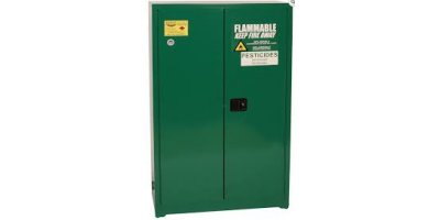 Eagle - Model PEST47 - Pesticide Safety Storage Cabinet, 45 Gal. Green, Two Door, Manual Close