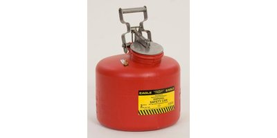 EAGLE - Model 1519 - Disposal Can, 5 Gal. Galvanized Steel - Red