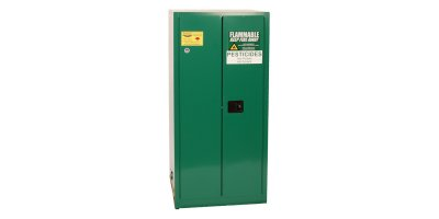 EAGLE - Model PEST26 - Pesticide Safety Storage Cabinet, 55 Gal. Green, Two Door, Manual Close