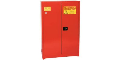 Eagle - Model PI-77 - Paint/Ink Safety Storage Cabinet, 30 Gal. Red, Two Door, Manual Close