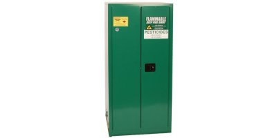 EAGLE - Model PEST2610 - Pesticide Safety Storage Cabinet, 55 Gal. Green, Two Door, Self Close