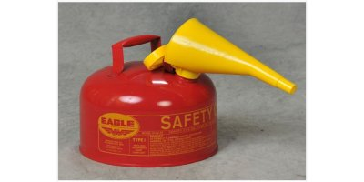 EAGLE - Model Type I UI-20-FS - Safety Can, 2 Gal. Red with F-15 Funnel
