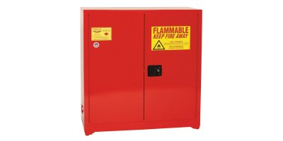 Eagle - Model PI-30 - Paint & Ink Safety Cabinet, 40 Gal. Red, Two Door, Self Sliding Close