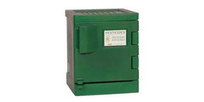 EAGLE - Model PEST-P04 - Poly Pesticide Safety Storage Cabinet, 4 Gal. Green, One Door, Manual Close