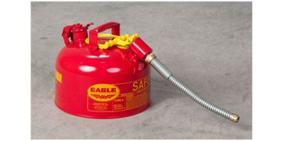 EAGLE - Model Type II U2-26-S - Safety Can, 2.5 Gal. Red with 7/8 O.D. Flex Spout