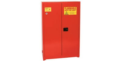 Eagle - Model PI-45 - Paint & Ink Safety Cabinet, 60 Gal. Red, Two Door, Self Sliding Close