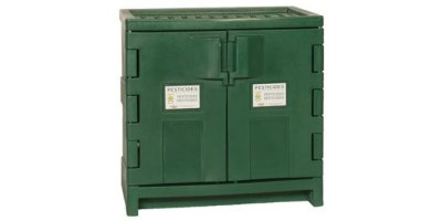 EAGLE - Model PEST-P22 - Poly Pesticide Safety Storage Cabinet, 22 Gal. Green, Two Door, Manual Close