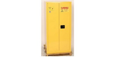 EAGLE - Model 1926 - One Drum Vertical Safety Cabinet, 55 Gal. Yellow, Two Door, Manual Close