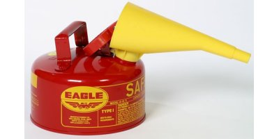 EAGLE - Model Type I UI-10-FS - Safety Can, 1 Gal. Red with F-15 Funnel