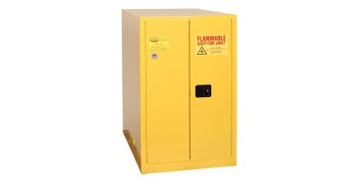 EAGLE - Model 1928 - One Drum Horizontal Safety Cabinet, 55 Gal. Yellow, Two Door, Manual Close