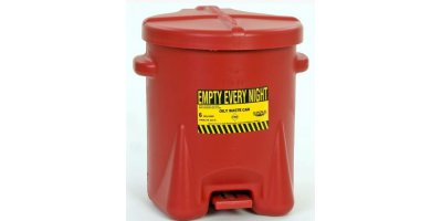 EAGLE - Model 933-FL - Oily Waste Can, 6 Gal. Red Poly