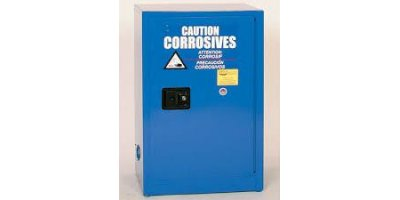 EAGLE - Model CRA-1924 - Metal Acid & Corrosive Safety Cabinet, 12 Gal. Blue, One Door, Self Close