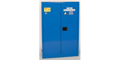 Eagle - Model CRA-47 - Metal Acid & Corrosive Safety Cabinet, 45 Gal. Blue, Two Door, Manual Close