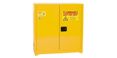 Eagle - Model YPI-30 - Paint & Ink Safety Cabinet, 40 Gal. Yellow, Two Door, Self Sliding Close