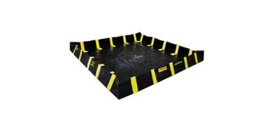 Justrite QuickBerm - Model JR-28550 - Spill Containment Berm with Inside Wall Supports - 16` x 16` x 12`