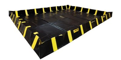 Justrite QuickBerm - Model JR-28554 - Spill Containment Berm with Inside Wall Supports - 20` x 20` x 12`