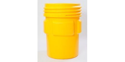 EAGLE - Model 1690 - Overpack Poly Drum, 95 Gal. Yellow With Screw-On Lid
