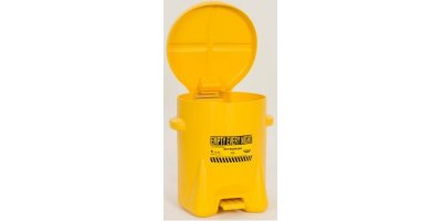 EAGLE - Model 933-FLY - Oily Waste Can, 6 Gal. Yellow Poly