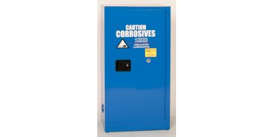 Eagle - Model CRA-1905 - Metal Acid & Corrosive Safety Cabinet, 16 Gal. Blue, One Door, Self Close