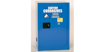 Eagle - Model CRA-1925 - Metal Acid & Corrosive Safety Cabinet, 12 Gal. Blue, One Door, Manual Close