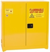 Eagle - Model YPI-32 - Paint & Ink Safety Cabinet, 40 Gal. Yellow, Two Door, Manual Close