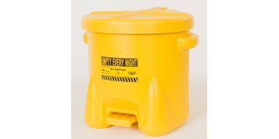 EAGLE - Model 935-FLY - Oily Waste Can, 10 Gal. Yellow Poly