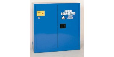 EAGLE - Model CRA-32 - Metal Acid & Corrosive Safety Cabinet, 30 Gal. Blue, Two Door, Manual Close