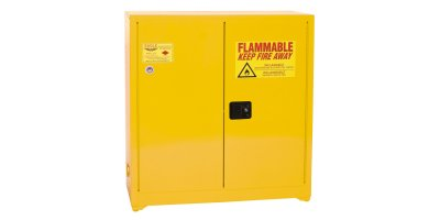 Eagle - Model YPI-3010 - Paint & Ink Safety Cabinet, 40 Gal. Yellow, Two Door, Self Close