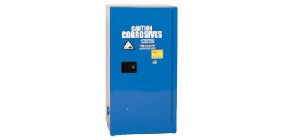 Eagle - Model CRA-1906 - Metal Acid & Corrosive Safety Cabinet, 16 Gal. Blue, One Door, Manual Close