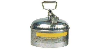 EAGLE - Model Type I 1313 - Safety Can, 2.5 Gal. Stainless Steel