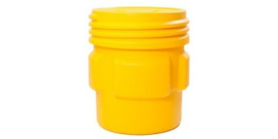 EAGLE - Model 1661 - Overpack Poly Drum, 65 Gal. Yellow with Screw-On Lid