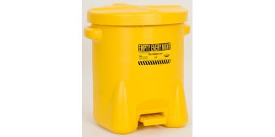 EAGLE - Model 937-FLY - 14 Gal. Polyethylene Oily Waste Can (Yellow)