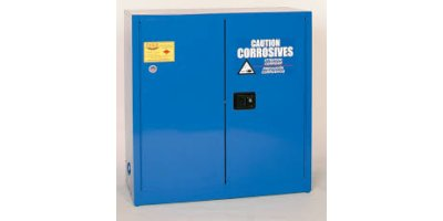 Eagle - Model CRA-30 - Metal Acid & Corrosive Safety Cabinet, 30 Gal. Blue, Two Door, Self Close
