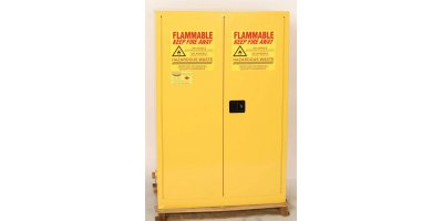 EAGLE - Model HAZ9010 - HAZ-MAT Safety Cabinet, 60 Gal. Yellow, Two Door, Self Close