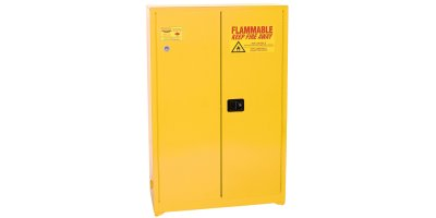 Eagle - Model YPI-45 - Paint & Ink Safety Cabinet, 60 Gal. Yellow, Two Door, Self Sliding Close