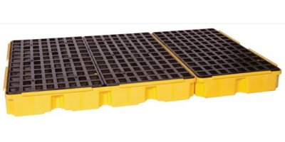 EAGLE - Model 1686 - 6 Drum Containment Platform - Yellow no Drain
