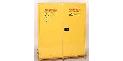 EAGLE - Model 1955 - Drum Safety Cabinet, 110 Gal. Yellow, Two Door, Manual Close