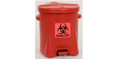 EAGLE - Model 943BIO - BioHazardous Waste Can, 6 Gal. Red Poly