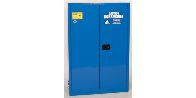 Eagle - Model CRA-45 - Metal Acid & Corrosive Safety Cabinet, 45 Gal. Blue, Two Door, Sliding Self Close