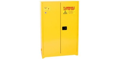 EAGLE - Model YPI-47 - Paint & Ink Safety Cabinet, 60 Gal. Yellow, Two Door, Manual Close