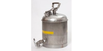 EAGLE - Model 1327 - Faucet Can, 5 Gal. Stainless Steel w/ Stainless ECO Faucet w/ Neoprene Gasket