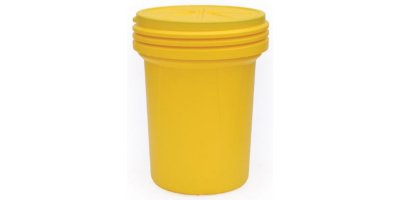 EAGLE - Model 1600SL - Lab Pack Poly Drum, 30 Gal. Yellow with Screw-On Lid