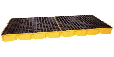 EAGLE - Model 1688 - 8 Drum Containment Platform - Yellow No Drain