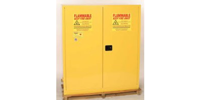 EAGLE - Model 5510 - Drum Safety Cabinet, 110 Gal. Yellow, Two Door, Self Close